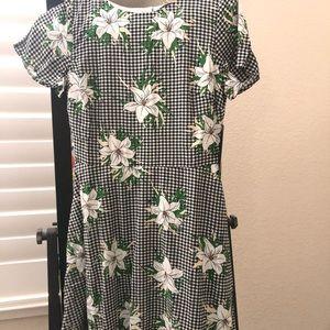 Summer floral vintage dress